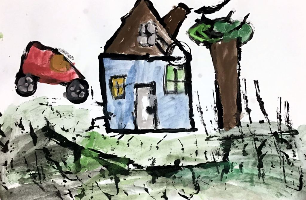 """Home"" Alondra Rivera Zuniga Tempera 1st, Rockwell NFS"