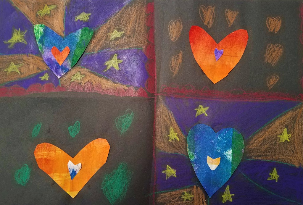"""Hearts and Stars,"" Ashley Rodriguez-Velazquez, Mixed Media, 1st, Luther, NFS"