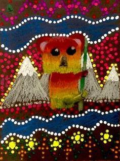 """""""Colorful Koala,"""" Aubrey Keller, Mixed Media, 3rd, Luther, NFS"""