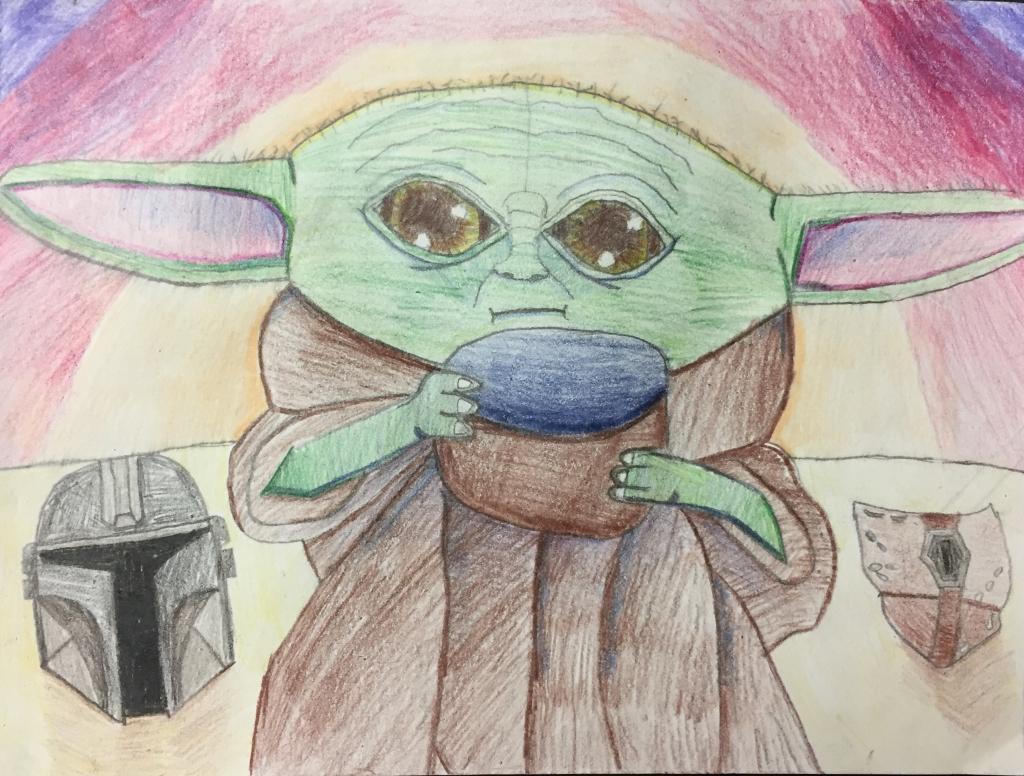 """Baby Yoda,"" Carter Hill, Pencil, 5th, Purdy, NFS."