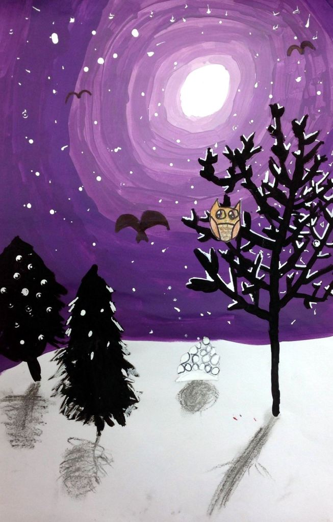 """Winter Wonderland"", Catriona McCalmont, Mixed Media, 4th, Rockwell, NFS"