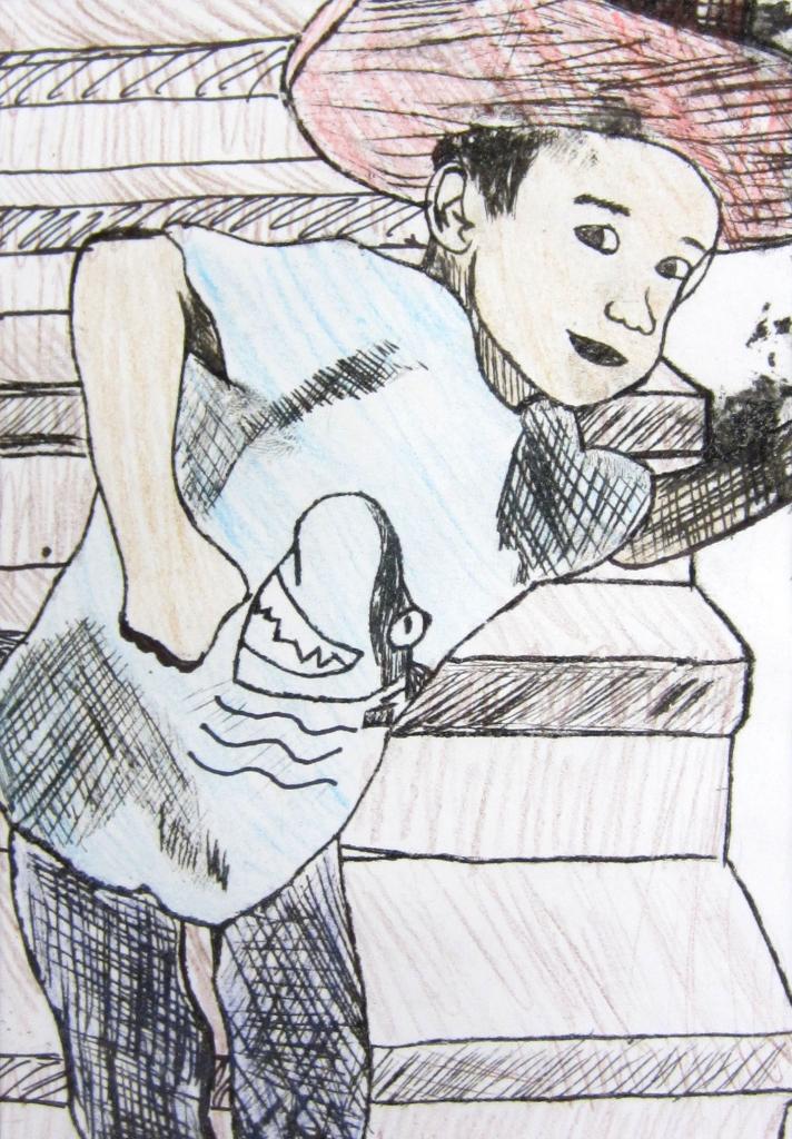 """Bro"" Eduardo Payano Printmaking and Colored Pencil 8th, FAMS, NFS"