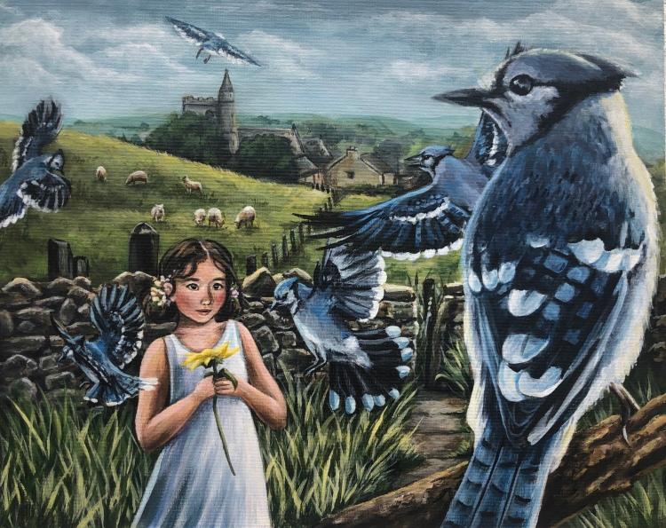 """""""Children's Curiosity"""" Maya Kish Acrylic Paint 12th, FAHS NFS"""