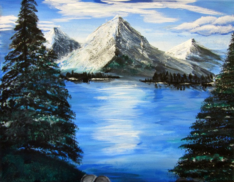 """Cool Mountain"" Jessica Besch Acrylic 7th, FAMS $40"