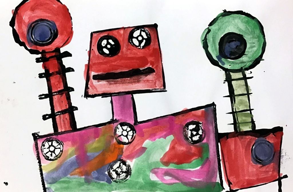 """Robot"" Jude Doublestein Tempera 1st, Rockwell NFS"