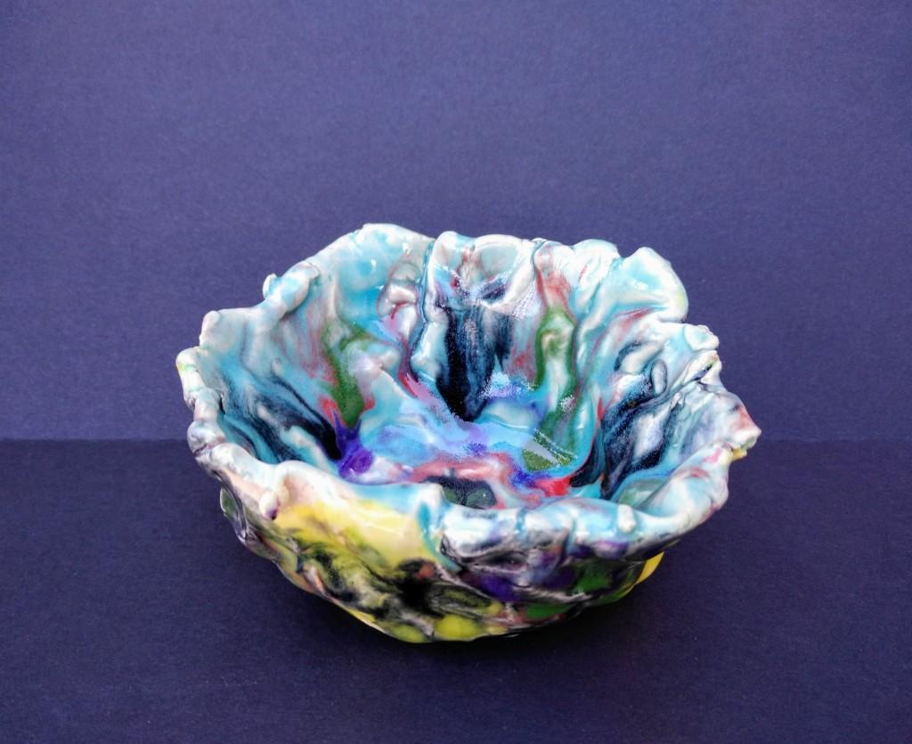 """""""Ocean Floor"""" Mason Knickrehm Ceramic pinch pot Kindergarten Barrie NFS"""