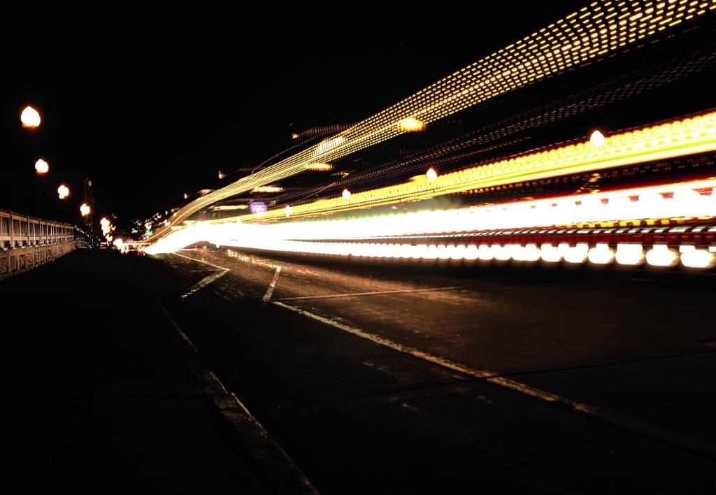 """""""Light trail 1"""" Michael Schwartz Digital Photograph, 9th, FAHS NFS"""