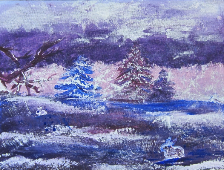"""Snow in Colors"" Namaste de Falla Acrylic 7th, FAMS $35"