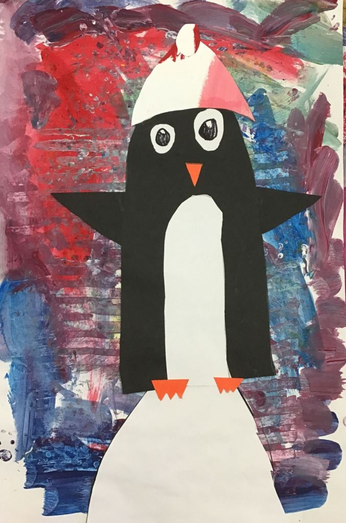 """Penguin"", Neal Roberton, Mixed Media, K, Rockwell, NFS"