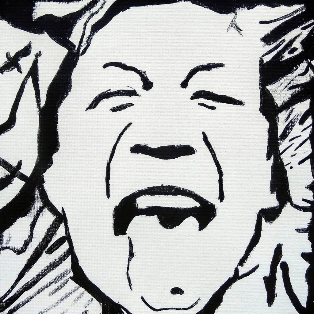 """""""Bad Hair Day"""" Azul Velazquez Castellanos Self-portrait / Acrylic on canvas board 5th Barrie NFS"""