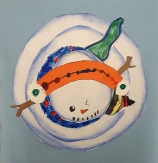 """Snowman Flash,"" Weston Henze, Mixed Media, 1st, Luther, NFS"
