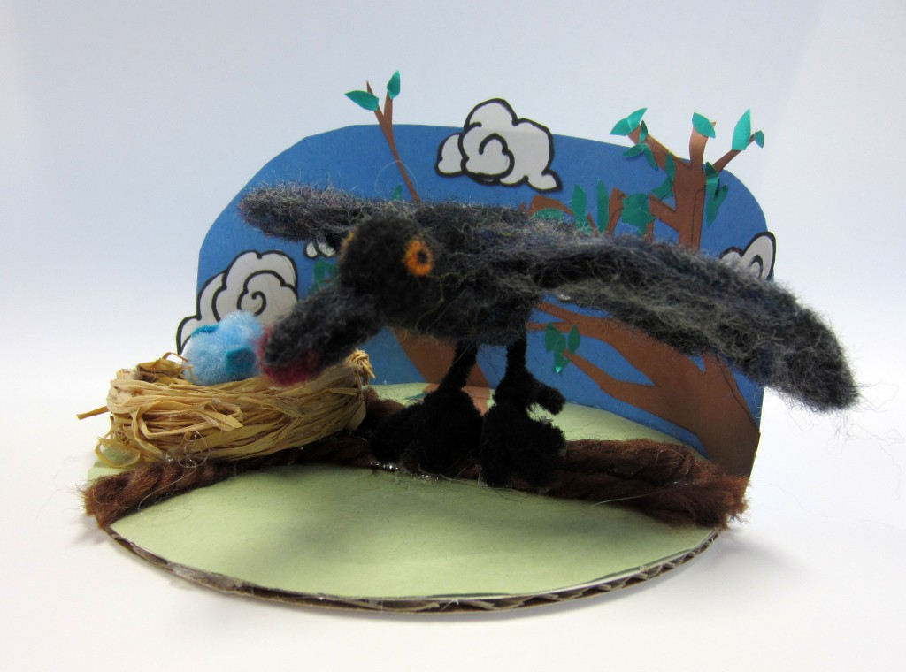 """Crows Call"" Willow Severin Fibers and Mixed-Media 7th, FAMS NFS."