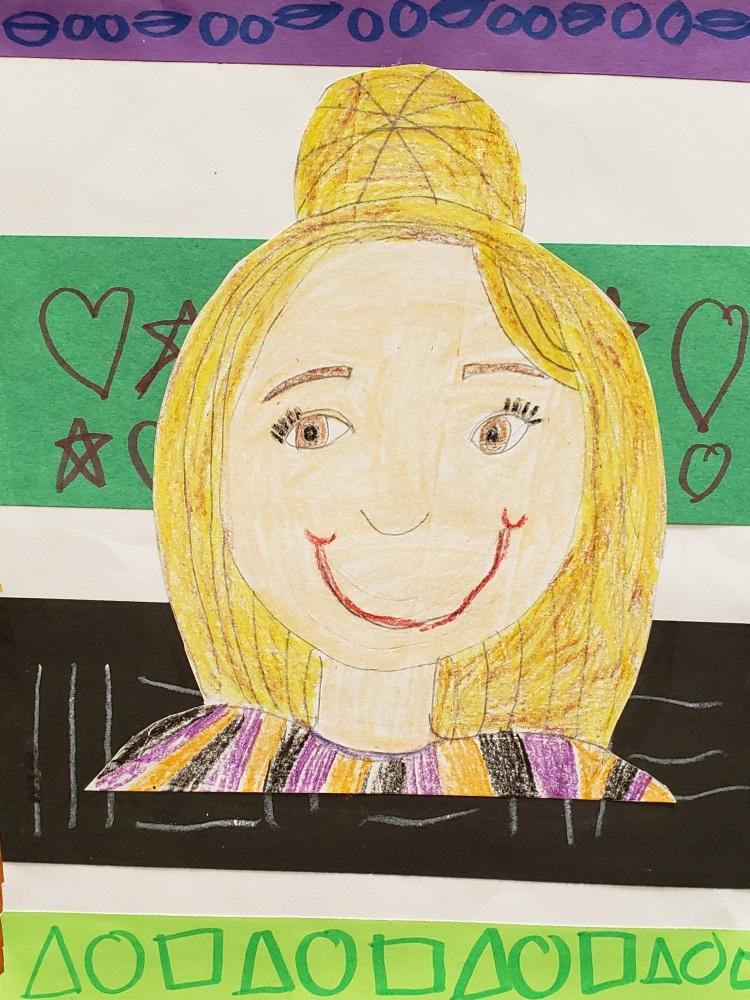 """""""Self-Portrait"""", Adalyn Telfer, Mixed Media, 1 Rockwell, $15"""
