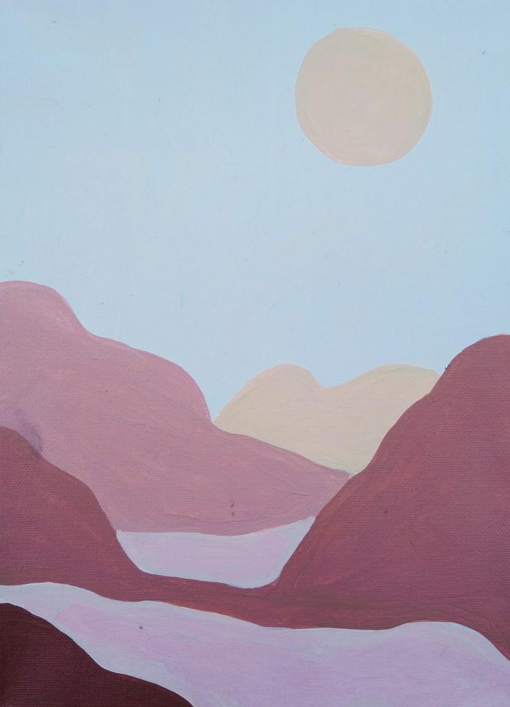 """Pink Mountains,"" Alexandria Luebke, Acrylic on canvas, 4 Barrie, NFS"