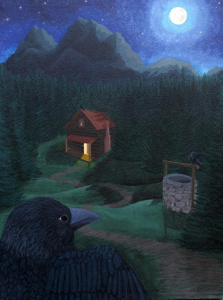"""""""Bird Rib,"""" Alice Van Haaften, Acrylic on Canvas, 12 FAHS, NFS"""