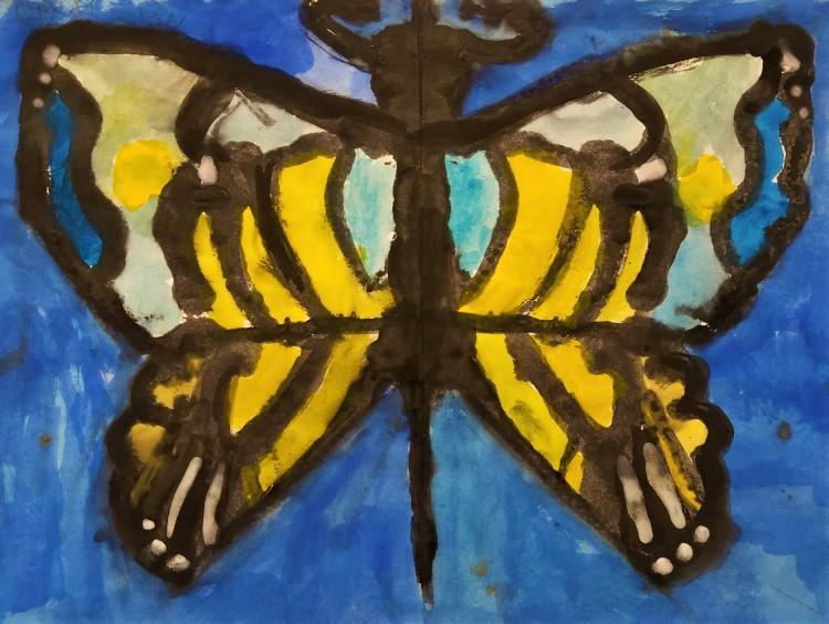 """Butterfly"", Roman Zimmerman, Watercolor, 1 Luther, NFS"