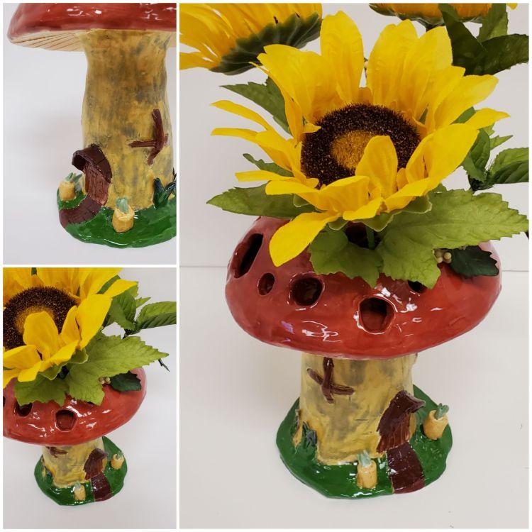 """Mushroom Vase,"" Callie Draves"
