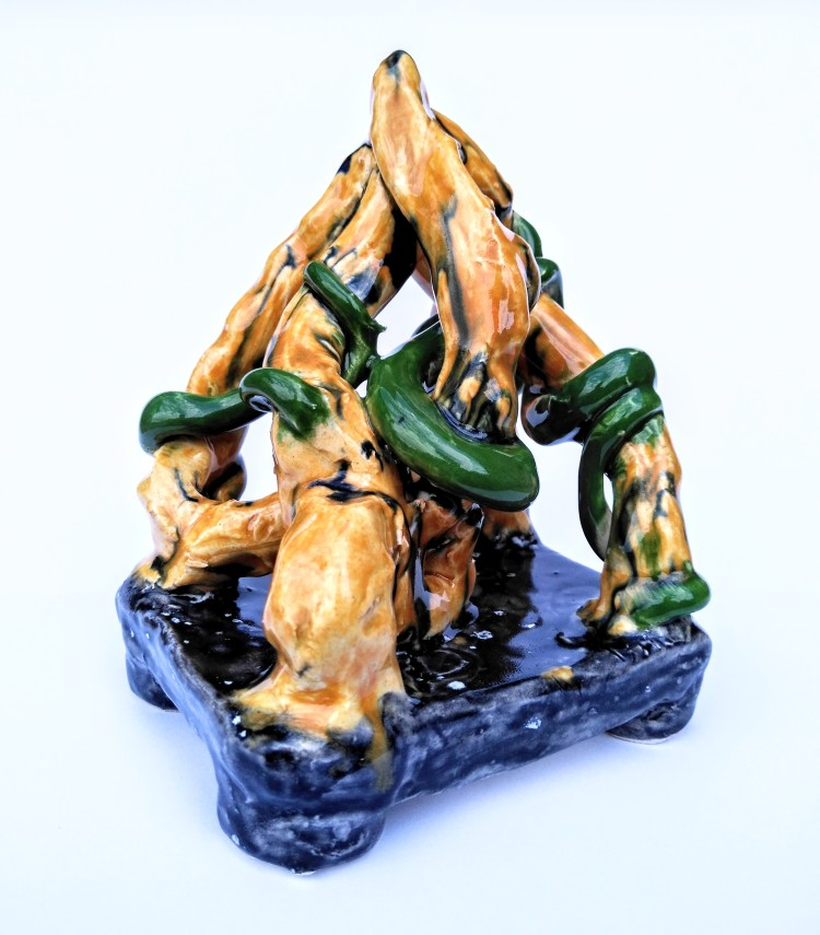 """""""Ancient Vines,"""" Chase McDonald, Ceramic, 5 Barrie, NFS"""