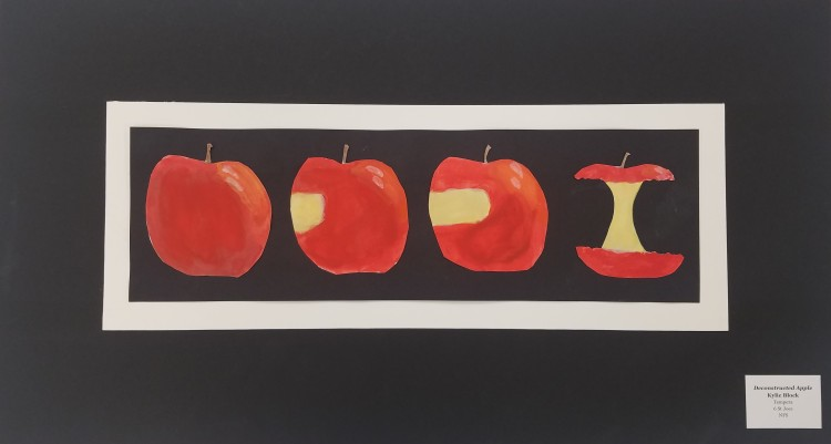 Deconstructed Apple, Kylie Block, Tempera, 6, St Joes, NFS