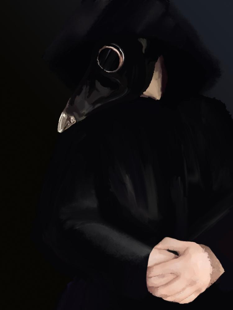 """Doctor's Mask,"" Dev Amons, Digital Drawing, 12 FAHS, NFS"