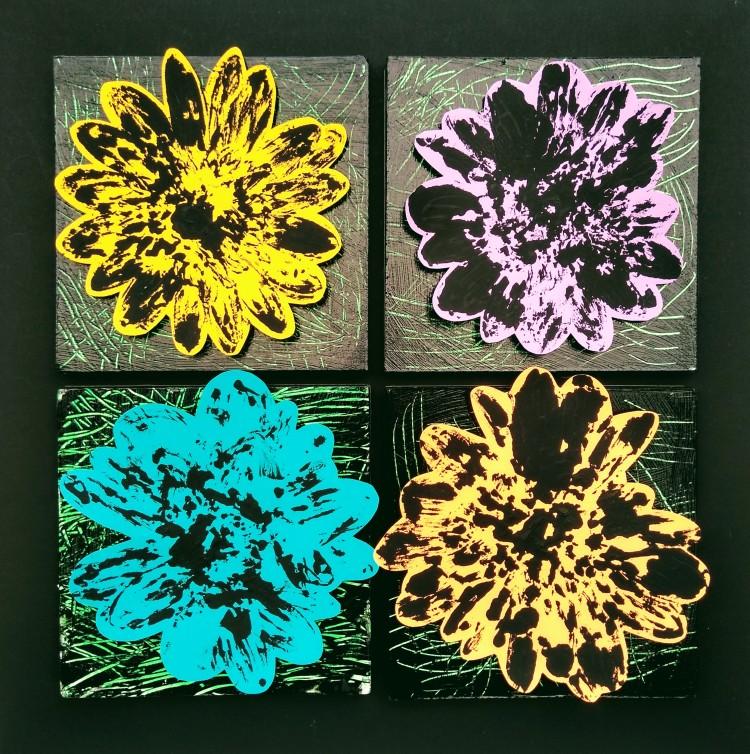 """""""Flowers Bring Joy,"""" Emilia Weiser, Monoprint & Foam board, 1 Barrie, NFS"""