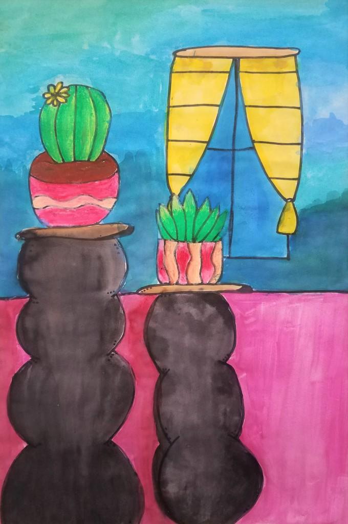 """""""Extraordinary Plants"""", Olivia, Kuecker, Mixed Media, 5 Luther, $40"""