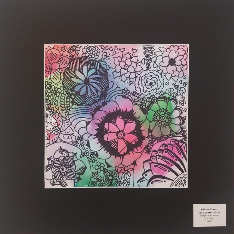 Flower Power, Presley Hotchkins Sharpie, Art Tissue 5 St. Joes NFS