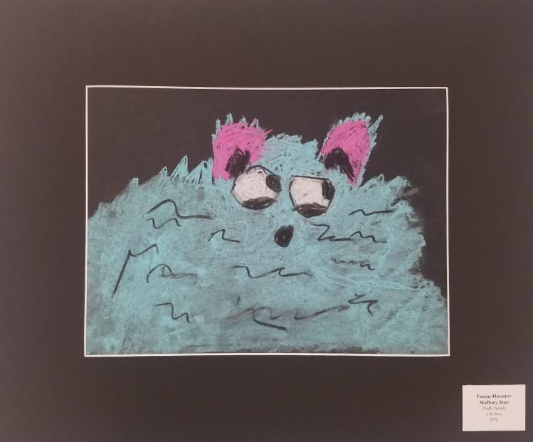 Fuzzy Monster, Mallory Moe, Chalk Pastel, 2, NFS