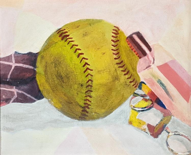"""Untitled Still Life,"" Mya Helmick, Acrylic on Canvas, 9 FAHS, $50,"