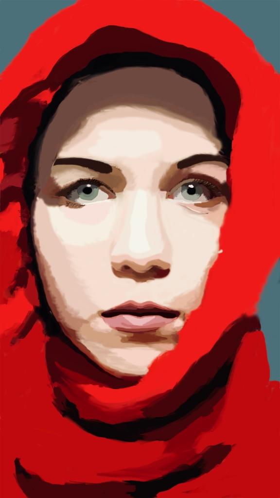 """Self Portrait,"" Hilde Rue, Digital Drawing, 9 FAHS, $50"