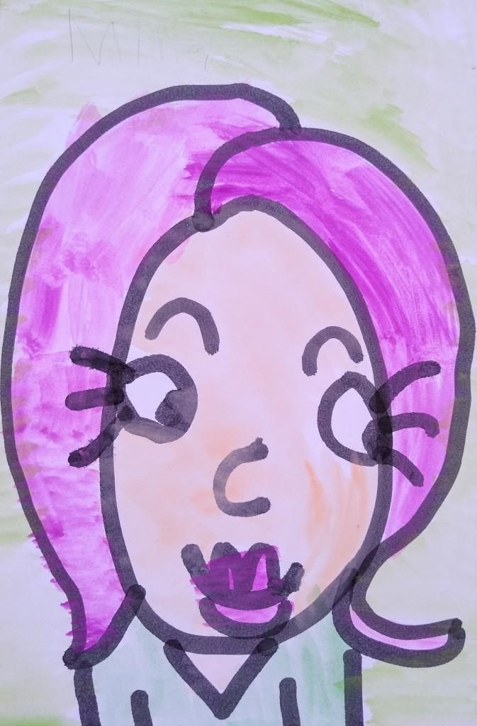 """My Cartoon Girl,"" Willomina Scheibel, Tempera & India ink, K Barrie, NFS"