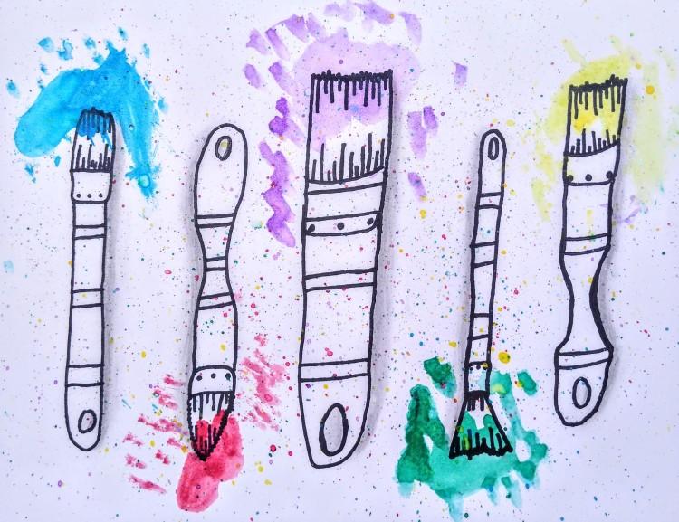 """Splatastic,"" Jamison Rottman, Watercolor & Sharpie, 3 Barrie, NFS"
