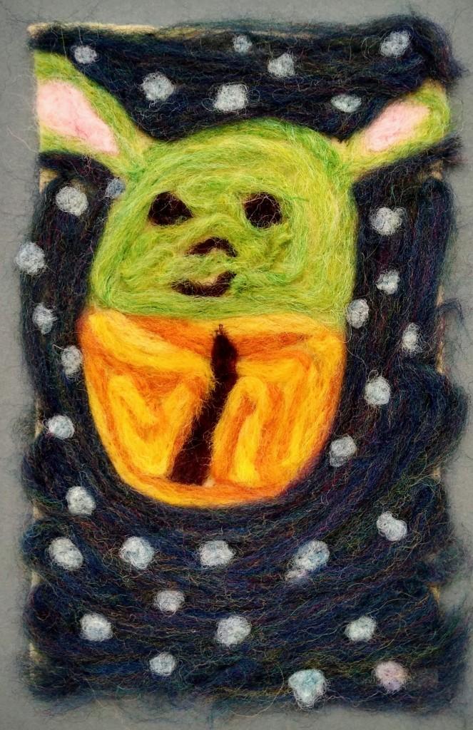 """Floating in Space,"" Lillian Carl, Needle Felting (wool), 3 Barrie, NFS"