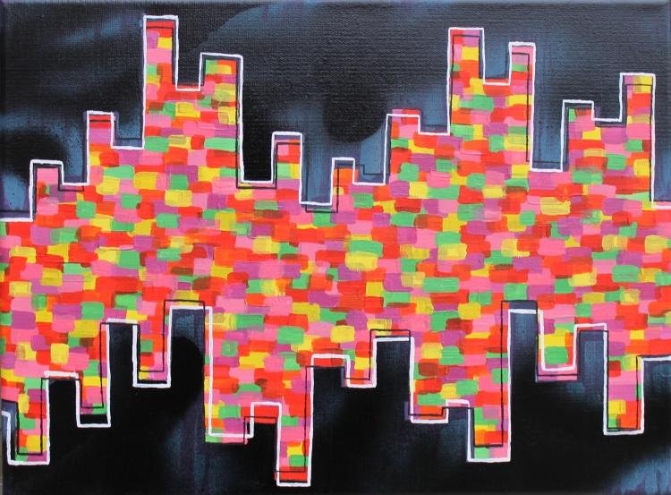 """""""Hip Hop,"""" Maya Wiliams, Acrylic and Spray Paint on Canvas, 12 FAHS, NFS"""