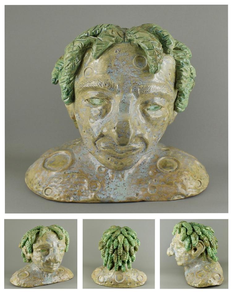"""Moon Man,"" Mystica Carothers, Ceramic, 12 FAHS, NFS"