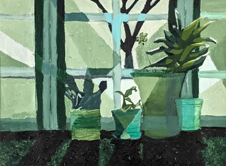 """Untitled Still Life,"" Nevenah Noh, Acrylic on Canvas, 9 FAHS, NFS"