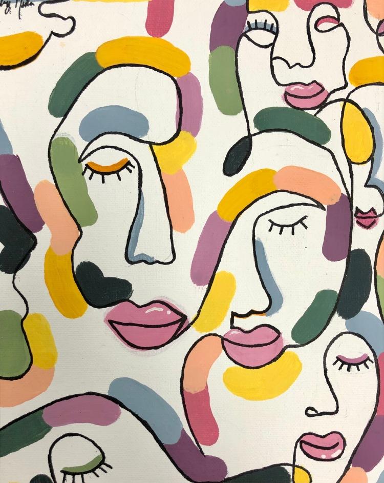 """""""Paint My Voice"""" Aubrey Meacham, Acrylic Paint on Canvas, 8 FAMS, NFS"""