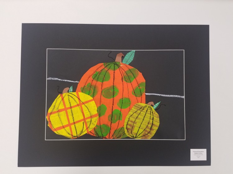 Painted Pumpkins, Mabel Nelson, Acrylic _ Oil Pastels, 1, St Joes, NFS