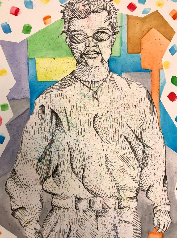 """""""San Francisco"""" Angella Nguyen, Ink and Watercolor, 8 FAMS, $60"""