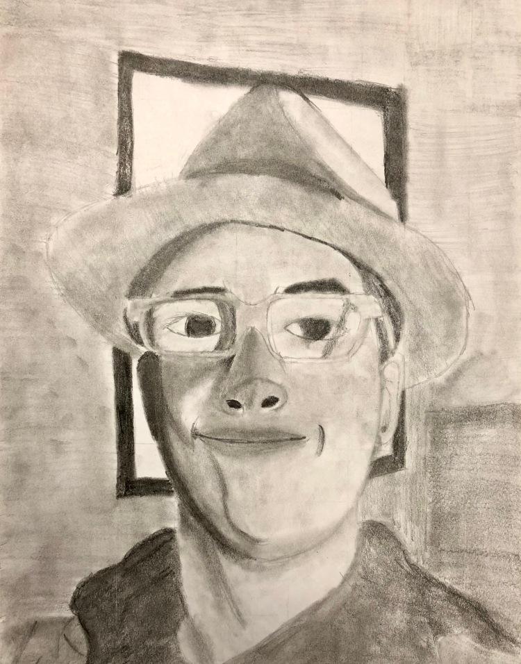 """""""Self-Portrait"""" Nolan Recob, Graphite, 8 FAMS, NFS"""