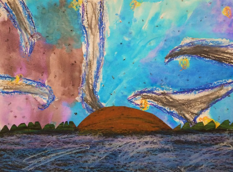 """Sunrise Over the Horizon"", Weston Henze, Mixed Media, 2 Luther, NFS"
