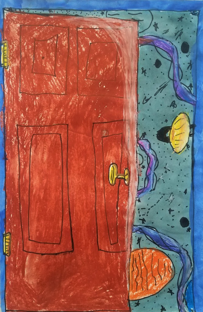 """""""The Door"""", Marshall Powers, Mixed Media, 4 Luther, $40"""