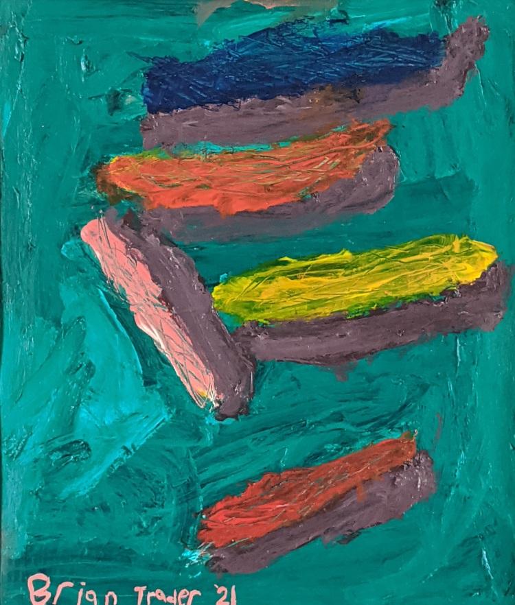 """""""Brian's Mark on the World,"""" Brian Trader, Acrylic on Canvas, 12 FAHS, NFS"""